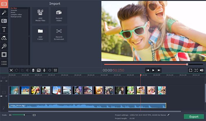 Movavi logiciel de montage vidéo